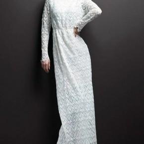 Elegant White Long Dresses Lace Pictures