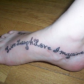 Enchanting Tattoo Word For Foot Pictures