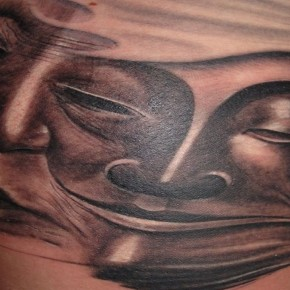 Exotic Slevee Dripping Buddha Tattoo Design Pictures