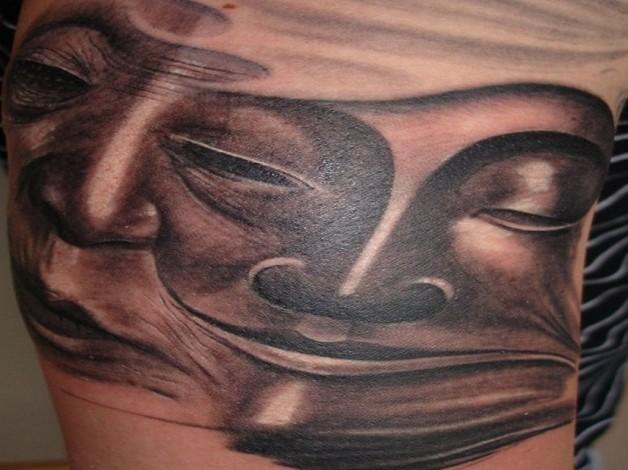 Exotic Slevee Dripping Buddha Tattoo Design