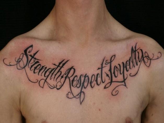 Fabulous Tattoo Words For Men