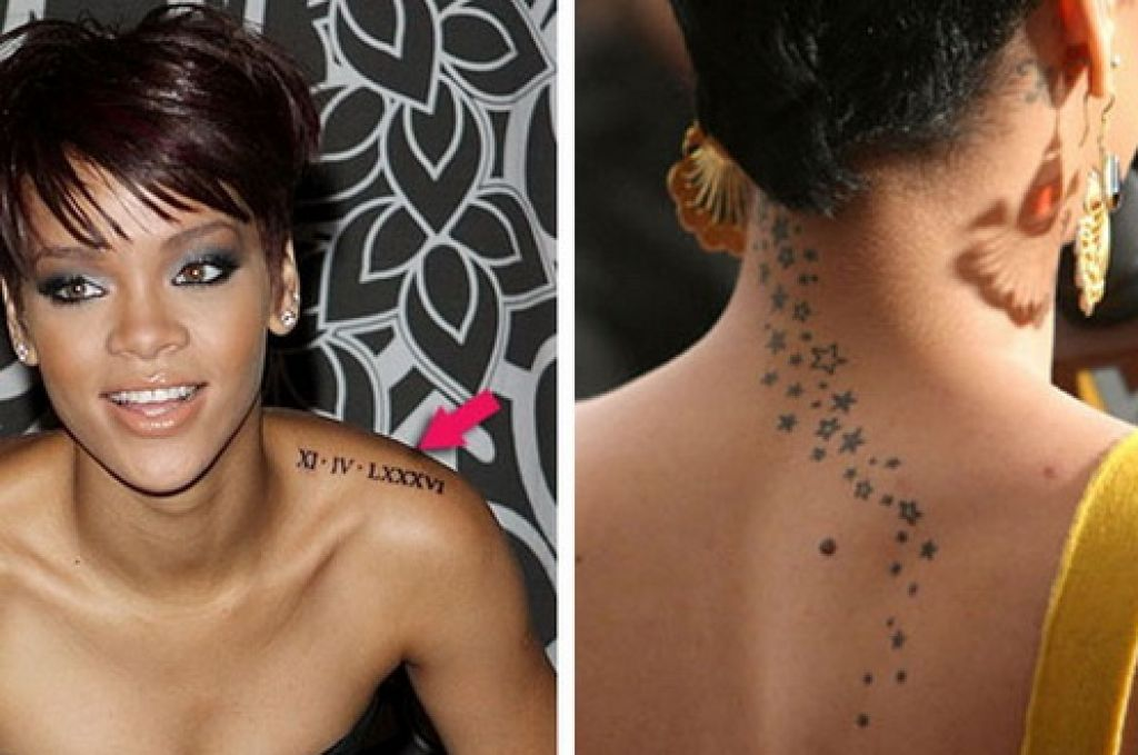 Famous Tattoo Artists Beatiful Rihanna Pictures