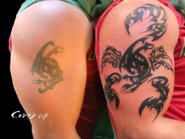 Fantastic Tribal Scorpion Cover Up Tattoo