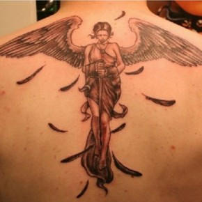 Fantasy Angel 3D Tattoo Design For Man On Back Pictures