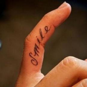 Finger Design Good Tattoo Quotes Pictures