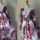 Floral Maxi Long Sleeved Dress Styles Pictures
