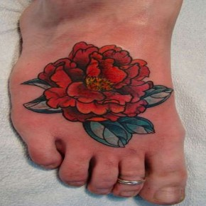 Foot Peony Cover Up Tattoo Ideas Pictures
