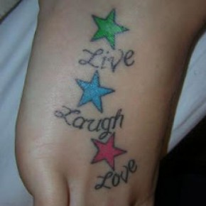 Foot Tattoo Designs For Girls Pictures