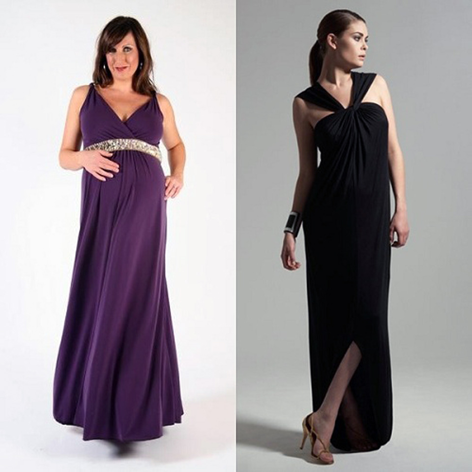maternity formal dresses Step out in style at any formal occasion with a maternity evening dress that allows you to feel comfortable and confident showing off your beautiful baby-bump.