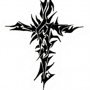 Free Design Tribal Cross Tattoos Pictures