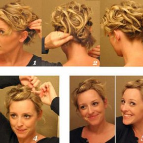 Front Updo For Short Fine Hair 2013 Pictures