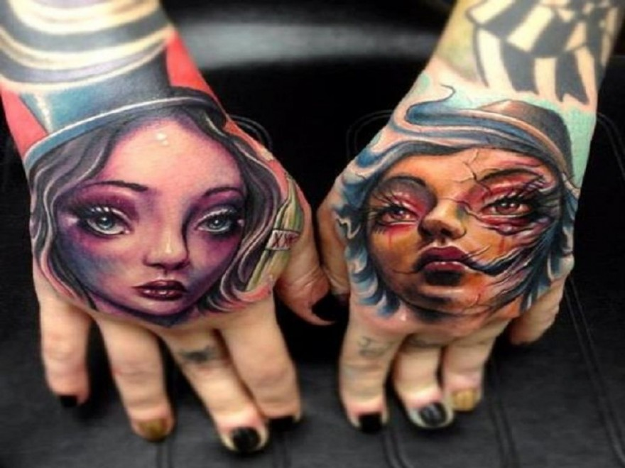 Funny La Ink Fake Tattoo That Look Real On Hand Pictures