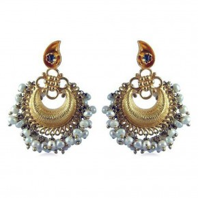 Gold Earring Designs For Girls Pictures