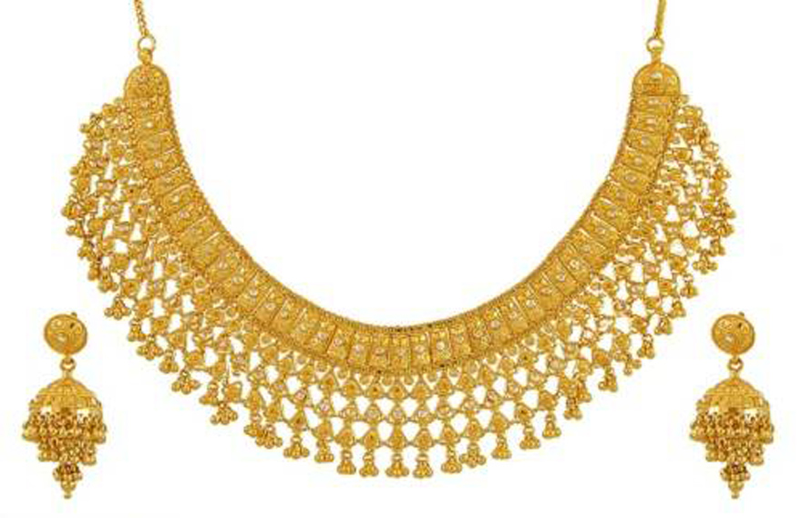 Gold Necklace Sets India - Inofashionstyle.com