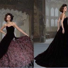 Gothic Black Wedding Dresses Images Pictures