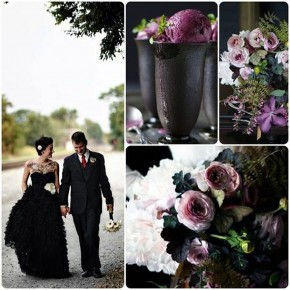 Gothic Black Wedding Dresses Theme Pictures