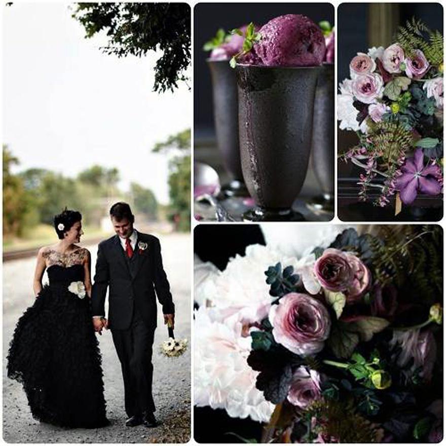 Black Gothic Wedding Shoes