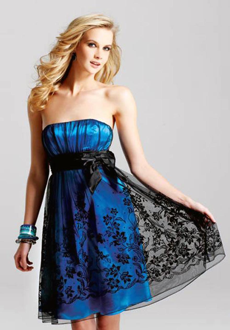 Grad Dresses Short Strapless
