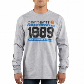 Graphic T-Shirts For Men, Carhartt 100008 Men's Long Sleeve THE DEFINITION OF TOUGH Graphic T