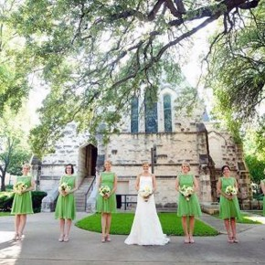 Green Bridesmaid Dresses Short Pictures