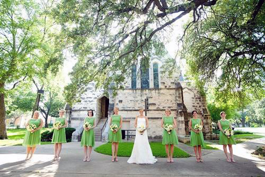 Green Bridesmaid Dresses Short