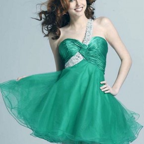 Green Short Prom Dress 2013 Pictures