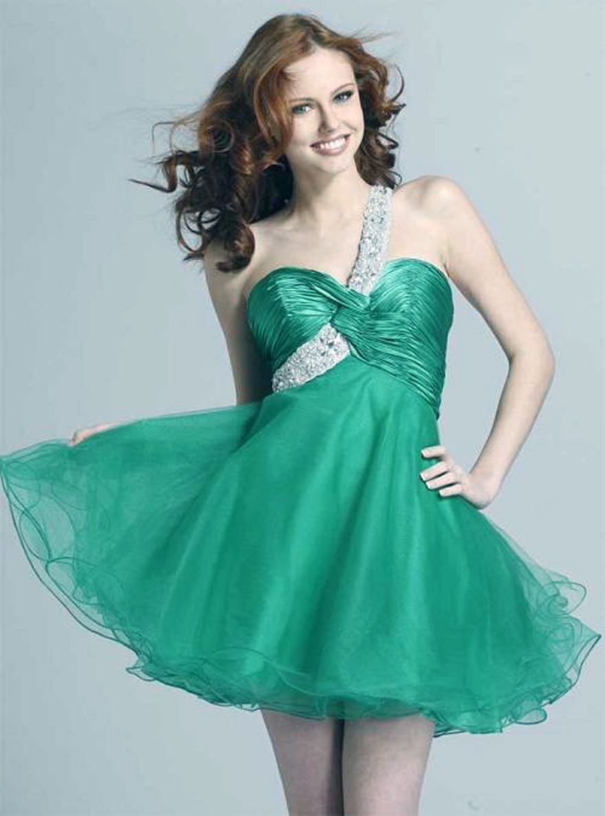 Green Short Prom Dress 2013