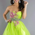 Green Short Prom Dress Lime Pictures
