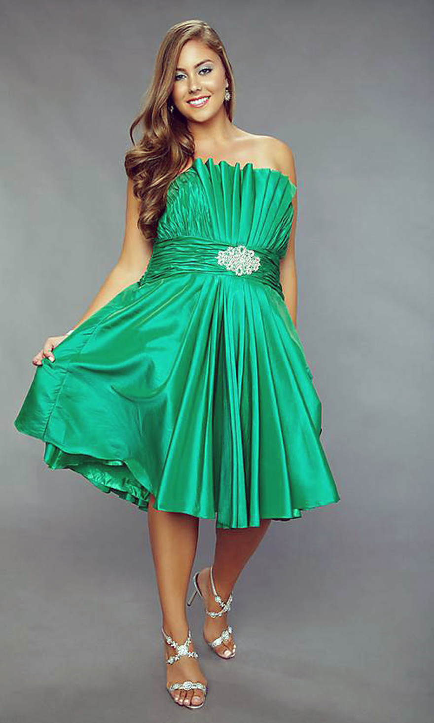 Green Short Prom Dress Maxi - Inofashionstyle.com