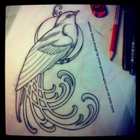 Guen Douglas Bird Motif Best Tattoo Artists Pictures