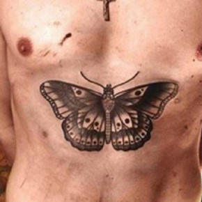 Harry Styles Big Butterfly Tattoo Inked On Chest Pictures