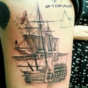 Harry Styles Ship Tattoo Sleeve Pictures