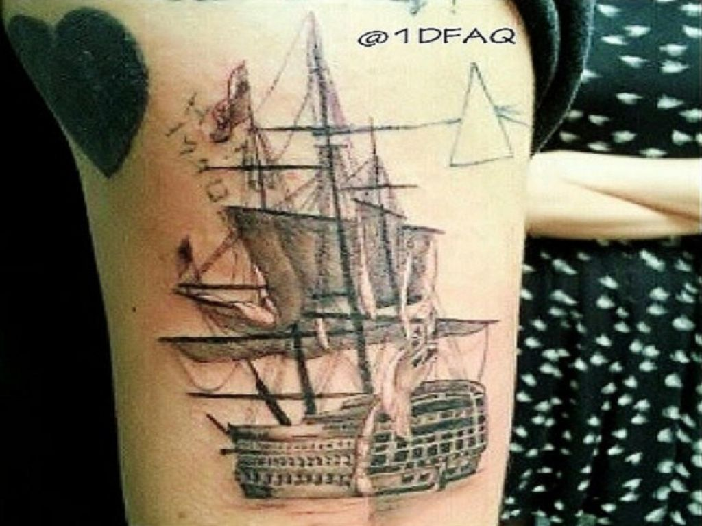 Harry Styles Ship Tattoo Sleeve Inofashionstyle Com