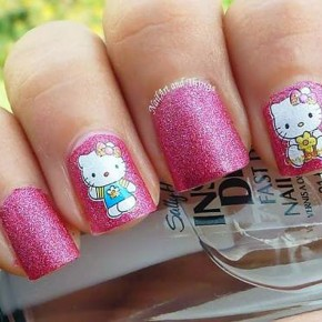 Hello Kitty Nail Art 2013 Pictures