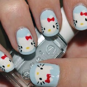 Hello Kitty Nail Art Designs Pictures