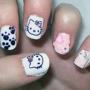 Hello Kitty Nail Art Images Pictures