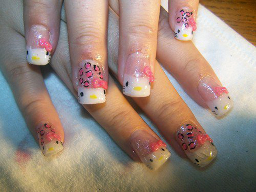 Hello kitty nail designs short nails ideas inofashionstyle hello kitty nail designs short nails ideas prinsesfo Images