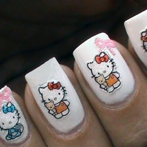 Hello Kitty Nail Designs Short Nails Best Pictures