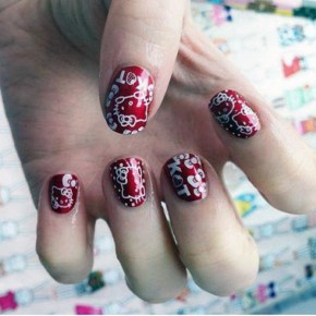 Hello Kitty Nail Designs Short Nails Red Pictures