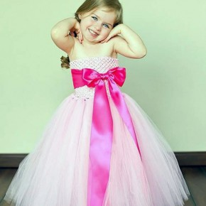 Hot Pink Flower Girl Dresses Cute Pictures