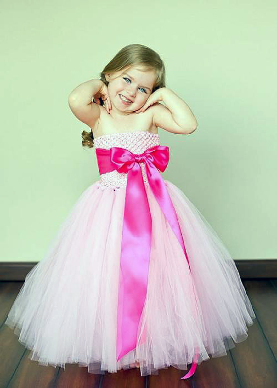 Hot pink flower girl dresses cute Style me pink fashion show