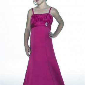 Hot Pink Flower Girl Dresses Long Pictures