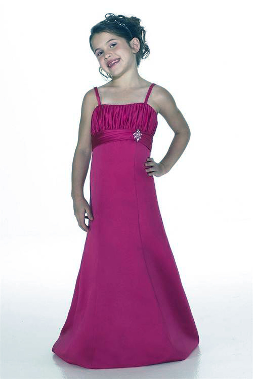 Hot Pink Flower Girl Dresses Long Inofashionstyle