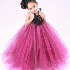 Hot Pink Flower Girl Dresses With Sleeves Pictures