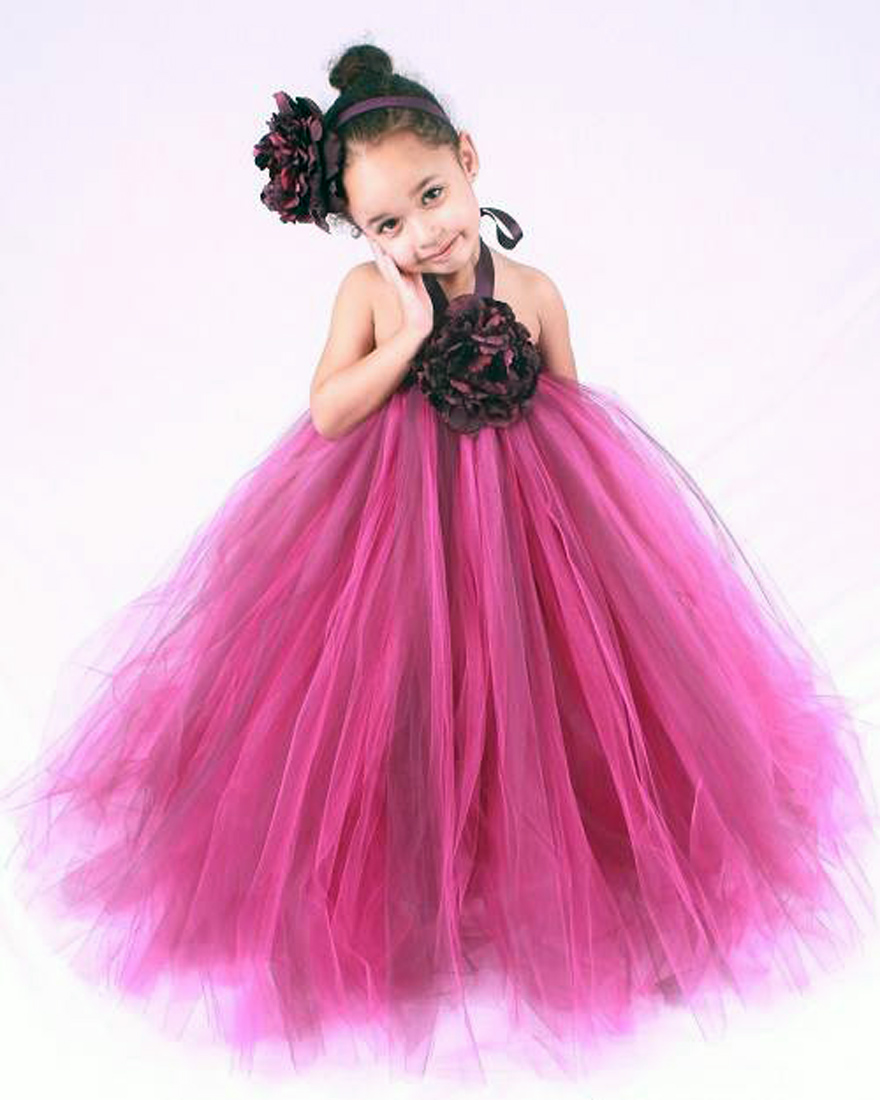 Hot Pink Flower Girl Dresses With Sleeves Inofashionstyle