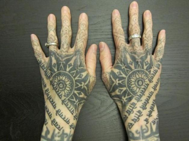 Impressive Sanskrit Quote Hand Tattoo Designs
