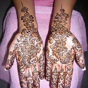 Inner Forearms To Hands Henna Tattoo Design Ideas Pictures