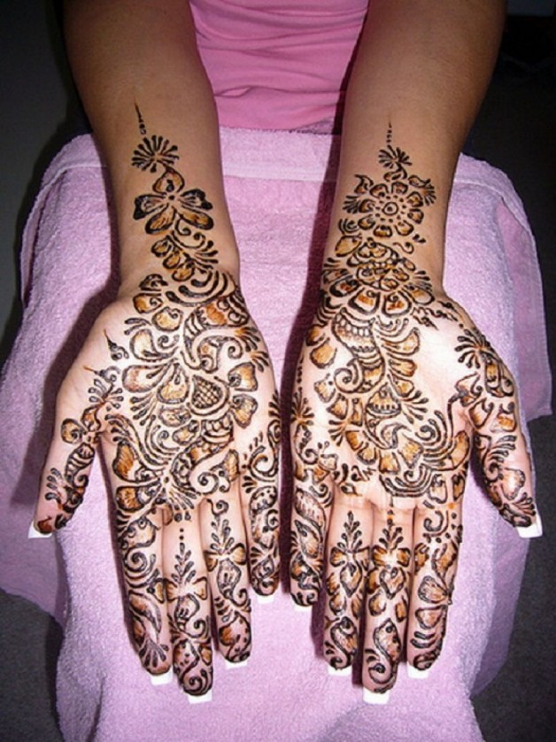 Inner Forearms To Hands Henna Tattoo Design Ideas