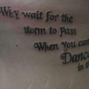 Inspiring Optimistic Words Tattoo Design Pictures