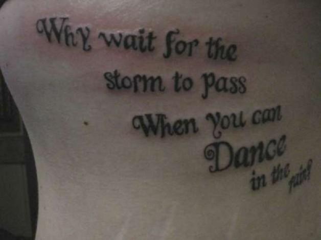 Inspiring Optimistic Words Tattoo Design